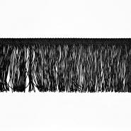 Fransen, 10cm, 18306-2, schwarz