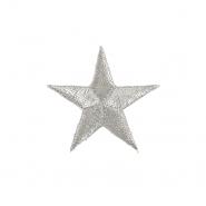 Našitek, zvezda, 18315-101, srebrna