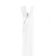 Reißverschluss, versteckt 22 cm, 4mm, 18279-501, weiß