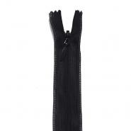 Zadrga, skrita 22 cm, 18297-732, črna