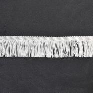Fransen, 5cm, 18305-1, weiß