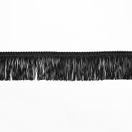 Fransen, 5cm, 18305-2, schwarz