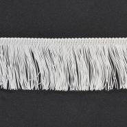 Fransen, 10cm, 18306-1, weiß