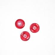 Gumb, kostimski 28, 18266-009, crvena