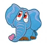 Prišivak, slon, 18345-016, plava