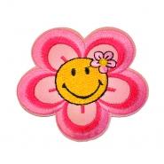 Našitek, cvetlični, 18346-006, roza