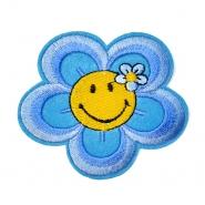 Našitek, cvetlični, 18346-016, modra