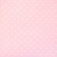 Bombaž, poplin, tisk, pikice, 18361-1, roza