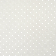 Bombaž, poplin, tisk, pikice, 18361-4, bež