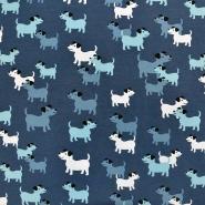 Jersey, bombaž, živalski, 18284-022, modra
