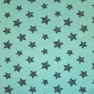 Jersey, bombaž, zvezde, 18369-024, mint
