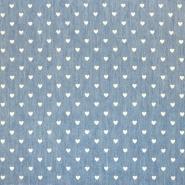 Jeans, srajčni, srčki, 17946-004, modra