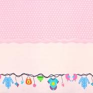 Jersey, Baumwolle, digital, für Kinder, 18387-61335, rosa
