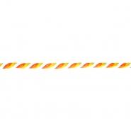Nit, višebojna, 6 mm, 17651-43409, bijela-narančasta
