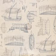 Deko, tisk, morski, 18259-3