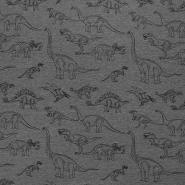 Jersey, živalski, 18458-36, temno siva