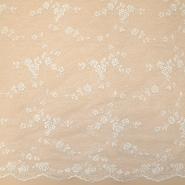 Čipka, cvetlični, 18459-1, smetana