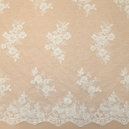 Čipka, cvetlični, 18461, smetana