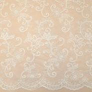 Čipka, cvetlični, 18462, smetana