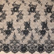 Spitze, floral, 18463-2, schwarz