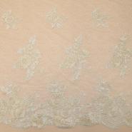 Čipka, cvetlični, 18471, srebrno zlata