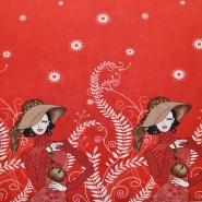 Jersey, poliester, modni, 18445-01, rdeča