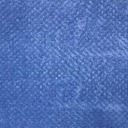 Velur coral, obojestranski, 18484-1, modra