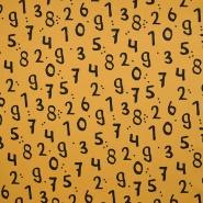 Jersey, bombaž, številke, 18515-08, rumena