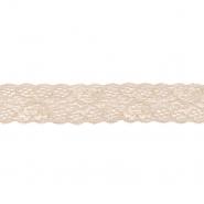 Čipka, elastična, 35mm, 18534-43955, peščena