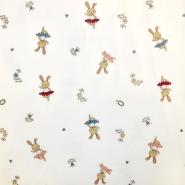 Pliš bombažen, otroški, 18546-021, smetana