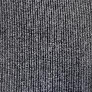 Pletivo, melanž, rebrasto, 17191-0068, črna