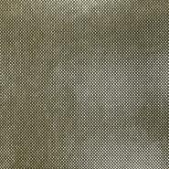 Gewebe, Lamé, 17595-075, schwarz-golden