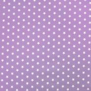 Bombaž, poplin, zvezde, 17951-015, lila
