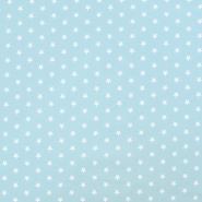 Bombaž, poplin, zvezde, 17951-020, modra