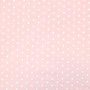 Bombaž, poplin, zvezde, 17951-021, roza