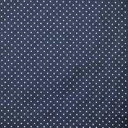 Bombaž, poplin, pikice, 17950-002, modra