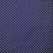 Pamuk, popelin, točkice, 17950-003, plava