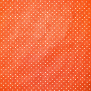 Bombaž, poplin, pikice, 17950-005, oranžna
