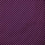 Bombaž, poplin, pikice, 17950-007, vijola