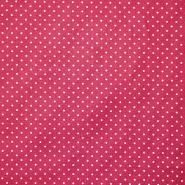 Bombaž, poplin, pikice, 17950-018, roza