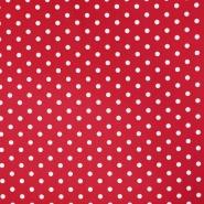 Bombaž, poplin, pike, 17952-004, rdeča