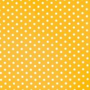 Pamuk, popelin, točke, 17952-016, žuta