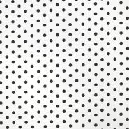 Bombaž, poplin, pike, 17952-101, belo črna