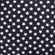 Jersey, bombaž, zvezde, 17369-7026, temno modra