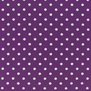 Jersey, pamuk, točke, 17132-5023, ljubičasta