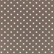 Jersey, pamuk, točke, 17132-5005, smeđa