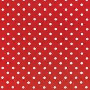 Jersey, pamuk, točke, 17132-0803, crvena