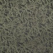 Pletivo, žakard, abstraktni, 18613-027, zelena