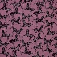 Jersey, viskoza, životinjski, 18625-019, ružičasta