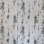 Prevešanka, cvetlični, 18643-063, siva